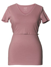 Boob Nursing Top V-Neck pink blush