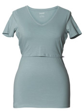 Boob Maternity/Nursing Top V-Neck ice blue