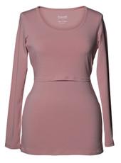 Boob Long Sleeve Maternity/Nursing Top - pink blush