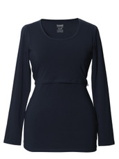 Boob Long Sleeve Maternity/Nursing Top - midnight blue