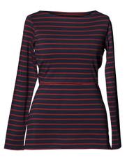 Boob Simone long sleeve blue/marsala stripe