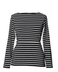 Boob Simone long sleeve black/pearl stripe