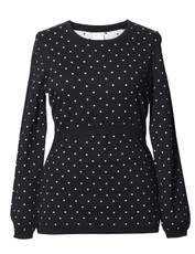 Boob Knitted Jumper Dots - black/offwhite