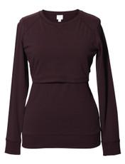Boob B.Warmer Maternity/Nursing Sweater - burgundy red