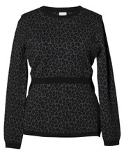 Boob Knitted Jumper Leo - leo print grey/black