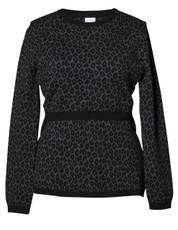 Boob Knitted Jumper Leo - leo print grey/black