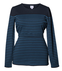 Boob Knitted Maternity/Nursing Jumper - Stripe Midnight Blue