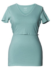 Boob Nursing Top Short Sleeve Nile Blue