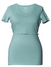 Boob Nursing Top Short Sleeve Nile Blue