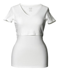 Boob Maternity/Nursing Top V-Neck - WHITE