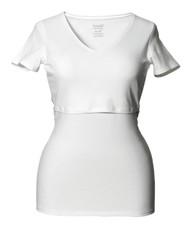Boob Maternity/Nursing Top V-Neck - WHITE
