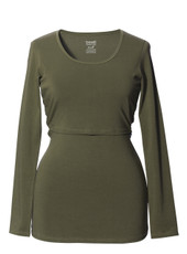Boob Design Long Sleeve Maternity/Nursing Top - burnt olive