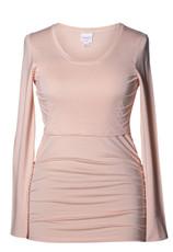 Boob Long Sleeve Maternity/Nursing Top Ruched - Pale Blush