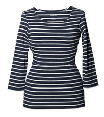 Boob Design Top Simone 3/4 sleeve striped midnight blue/off-white