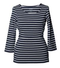 Boob Design Top Simone 3/4 sleeve striped midnight blue/off-white