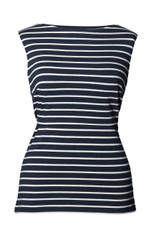 Boob Design Maternity/Nursing Tanktop Simone - midnight blue/off white stripe