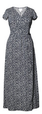 Boob Design Maternity/Nursing Long Dress Wrap - Midnight Blue/Pearl Print