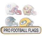 Professional Football Flags / Pro Team Flags