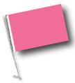 PINK Car Flag / Solid Blank Flag