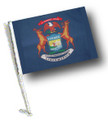 STATE of MICHIGAN Car Flag with Pole