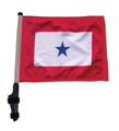 BLUE STAR Golf Cart Flag with Pole