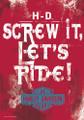 Harley Davidson Flag SCREW IT, LET'S RIDE DECORATIVE ESTATE FLAG