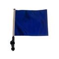 BLUE Soild Color Golf Cart Flag with Pole