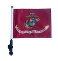 LICENSED US MARINE CORPS Golf Cart Flag with Pole