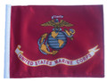 LICENSED US MARINE CORPS 11in. x 15in. Motorcycle Flag with Sissybar or Trunk Style Pole