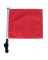 ORANGE Golf Cart Flag with Pole