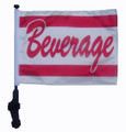 BEVERAGE Golf Cart Flag with Pole