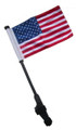 USA Small 6x9 Golf Cart Flag with SSP EZ Pole