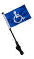 HANDICAP Small 6x9 Golf Cart Flag with SSP EZ Pole