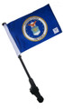 LICENSED AIR FORCE COAT OF ARMS Small 6x9 Golf Cart Flag with SSP EZ Pole