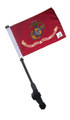 LICENSED US MARINE CORPS Small 6x9 Golf Cart Flag with SSP EZ Pole