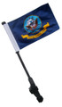 NAVY Small 6x9 Golf Cart Flag with SSP EZ Pole