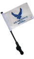 LICENSED AIR FORCE RETIRED Small 6x9 Golf Cart Flag with SSP EZ Pole