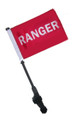 RANGER Small 6in.x9in. Golf Cart Flag with SSP Flags EZ On & Off Pole