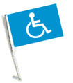 Handicap Car Flag, Handicapped Car Flag, HANDICAP Car Flag with Pole