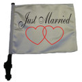 JUST MARRIED FLAG - 11in.s15in.