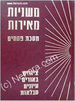 Mishnayot Meirot - Pesachim    משניות מאירות-פסחים
