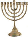 Classic 8&quot; Pewter  Menorah (M-208-P)