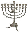Snake 14&quot; Pewter Menorah (M-214-P)