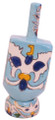 Ceramic Karshi Dreidel + Stand (DR-5944)