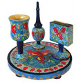 Pomegranates Wooden Havdalah Set