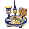 Oriental Jerusalem Wooden Havdalah Set