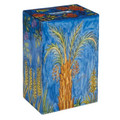 Yair Emanuel Rectangular Tzedakah (Charity) Box -The Seven Species TZS-7