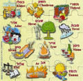 Hebrew months Holidays Magnetic Puzzle   GM-MPH