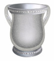 Acrylic Washing Cup Silver Shiny -  Diamonds