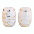 Ceramic Salt and Pepper Shaker&lt;br&gt;Jerusalem of Gold